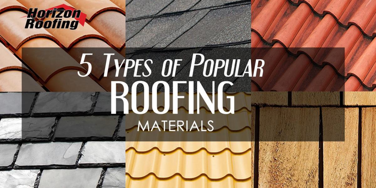 5 Types Of Por Roofing Materials